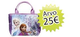 Prinsessa + lehden tilaajalahjaksi Frozen käsilaukku