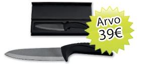 GEO + lehden tilaajalahjaksi Keraaminen veitsi