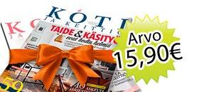 Koti & keittiö + lehden tilaajalahjaksi 2 kk lehdet kaupan päälle!