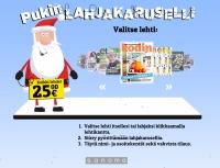 Joululahjakaruselli pyörittää tilaajalahjan joulun lehtitilauksiin
