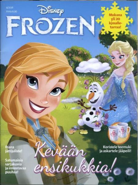 Prinsessa Frozen lehti ilmestyy neljä kertaa vuodessa